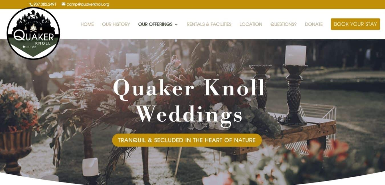 QUAKER KNOLL WEBSITE EXAMPLE PAGE2