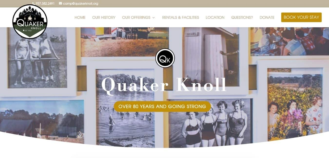 QUAKER KNOLL WEBSITE EXAMPLE PAGE