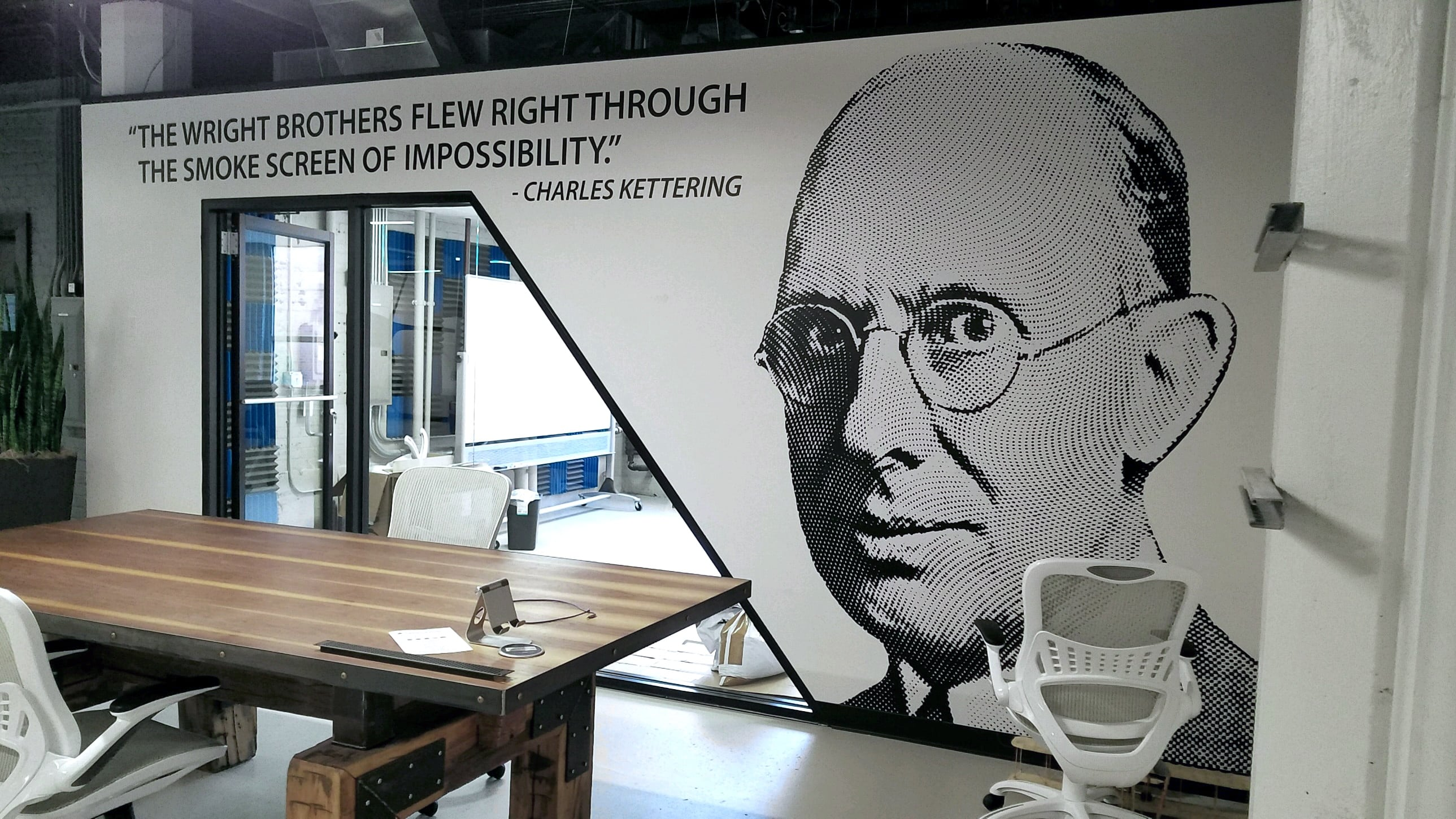 WRIGHT BROTHERS INSTITUTE WALL MURAL